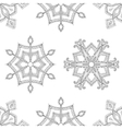 Zentangle winter snowflakes seamless pattern for vector image vector image