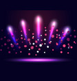 lighting podium stage neon spotlights vector image