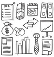 style business object of doodles vector image