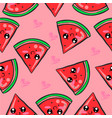 red fruit cute of doodles vector image