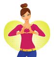 heart girl vector image vector image