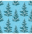 Seamless background Christmas trees with snow vector image vector image