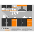 Kitchen interior flat design vector image vector image