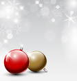 Christmas realistic baubles vector image vector image