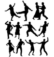 Elderly people dancing vector image