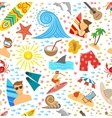 Surfing Seamless Pattern vector image vector image