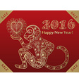 New years monkey vector image