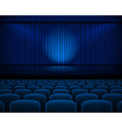Theater hall vector image vector image