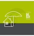 Symbol of the house under the protection vector image vector image