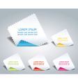 serrated paper vector image vector image