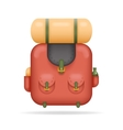 Backpak Travel Trip Vacation Summer Spring Concept vector image