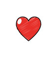 heart love and life symbol design vector image