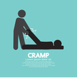 Man Help The Athlete From Cramp vector image