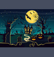 mystery house with pumpkin vector image