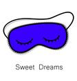 sleep mask vector image