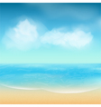 Summer sea and sand background vector image