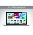 web communication social net vector image