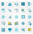 Ecommerce and shopping icons vector image