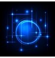 Blue radial background vector image