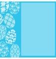 Blue Easter Frame vector image