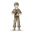 soldier baseball vector image