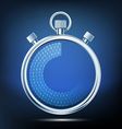 Stopwatch to measure time intervals vector image vector image