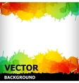 abstract blot colorful background vector image vector image
