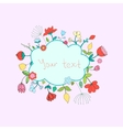 Frame flowers for text vector image