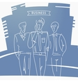 Hand-drawn design elements Business men vector image