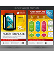 Abstract business flyer brochure template vector image