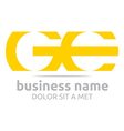 Abstract Logo Letter G E Alphabet Element Icon vector image