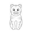 cat sitting pet animal domestic vector image
