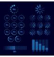 Download progress indicator set vector image