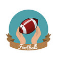 emblem football game icon vector image