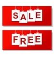 free sale horizontal banners vector image