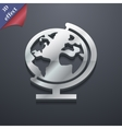 Globe icon symbol 3D style Trendy modern design vector image