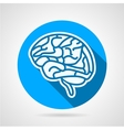 Round icon for brain vector image