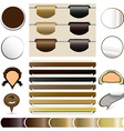 Set labels the coffee vector image