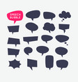 set speech bubbles and blank template for quotes vector image