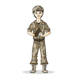 soldier baseball vector image