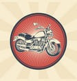 vintage of badge sticker vector image