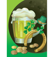 St Patricks Green Beer vector image