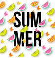 summer colorful background with sliced citrus vector image