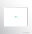 White modern frame on the wall vector image vector image