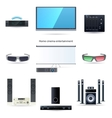 Home cinema entertainment set vector image