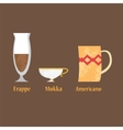 Set of coffe cups vector image