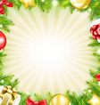 Christmas Fir Tree Card With Gifts vector image vector image