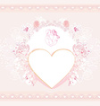 valentine stylish card vector image