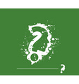 Grunge Question Mark vector image
