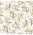Delicate ornate hand drawing white gold fantasy vector image